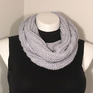 Maurices Light Blue Sequined Chunky Knit Scarf